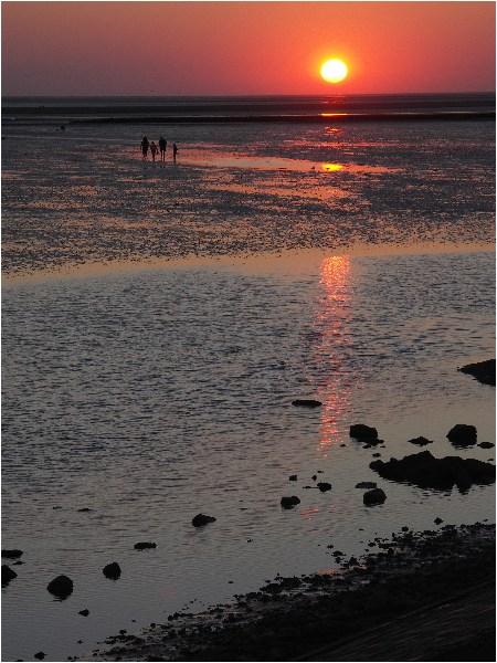Sonnenuntergang und Watt