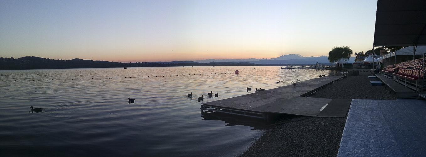 Sonnenuntergang Vareser See