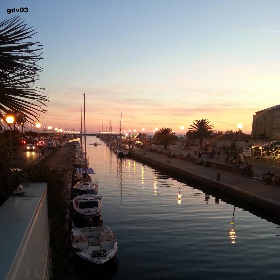 Sonnenuntergang Viareggio
