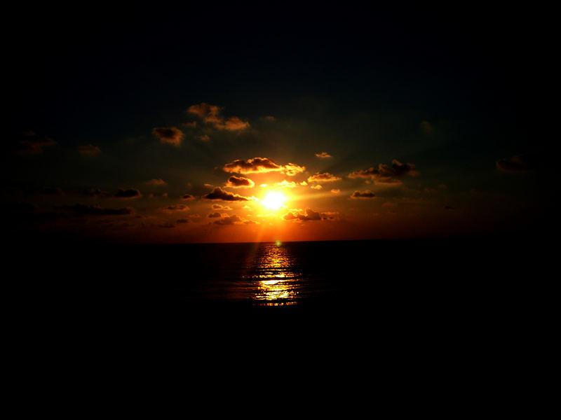 Sonnenuntergang - Vieux Boucau (Frankreich)