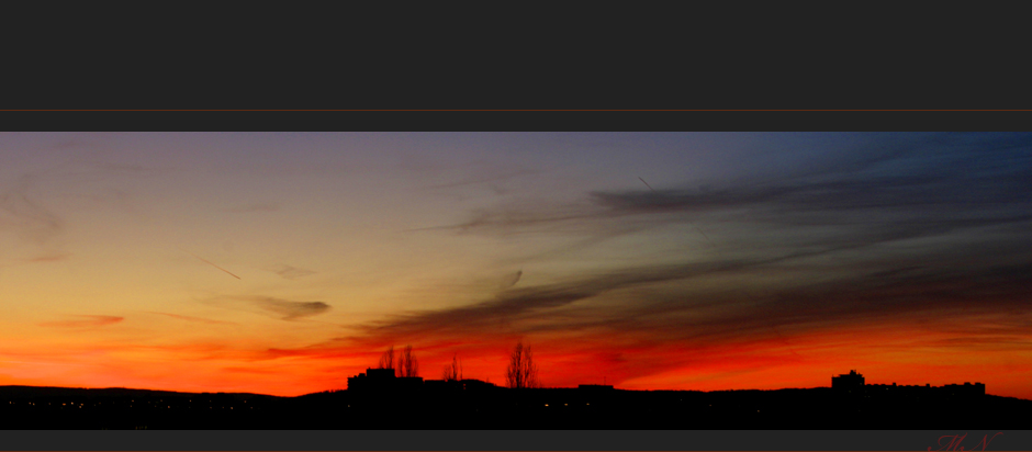 Sonnenuntergang vom 09.02.08