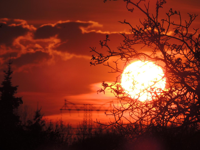 Sonnenuntergang vom 23.04.2012