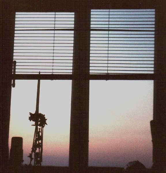 Sonnenuntergang vom Bett aus
