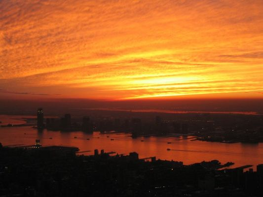 Sonnenuntergang vom Empire State Building