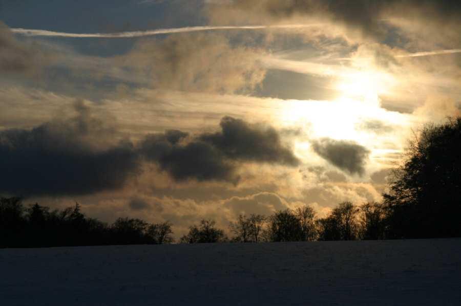 Sonnenuntergang vom Gläser aus aufgenommen