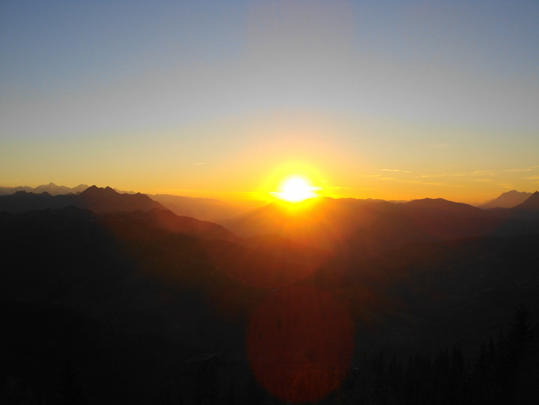Sonnenuntergang vom Grießenkareck in Flachau