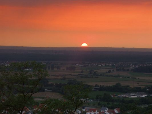 Sonnenuntergang vom Kirchberghäuschen...
