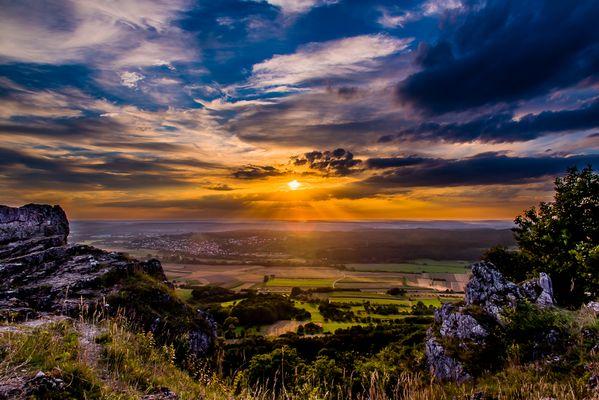 Sonnenuntergang vom Walberla aus