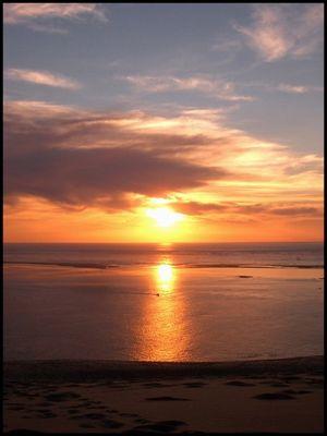 Sonnenuntergang von der 114m hohen Dune du Pyla
