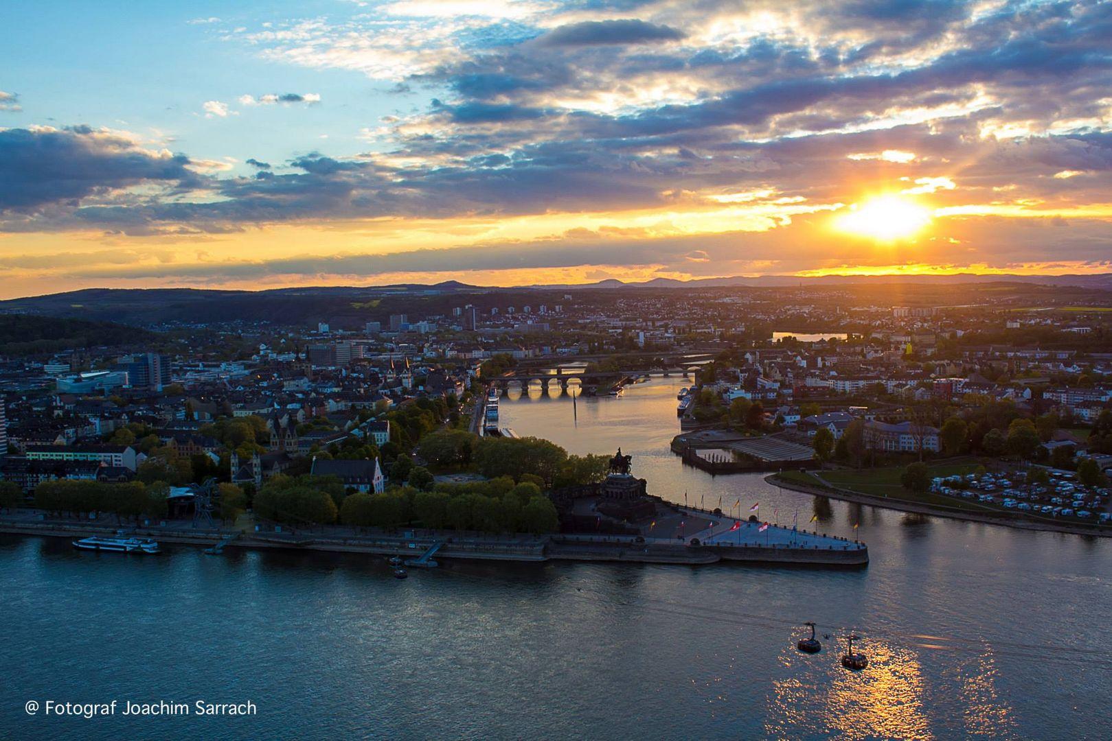 Sonnenuntergang von Deutsche Eck Koblenz