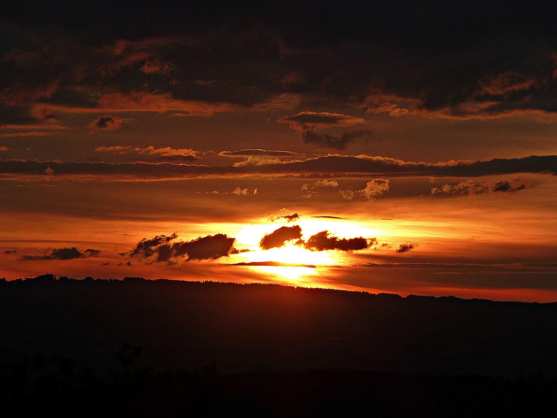 Sonnenuntergang von zuhause aus
