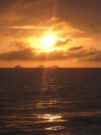 Sonnenuntergang vor 1 Stunde in RIO DE JANEIRO.....