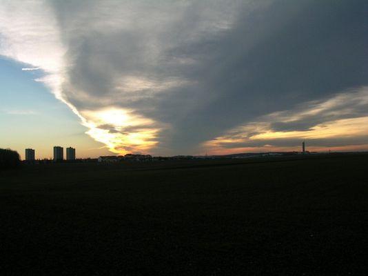 Sonnenuntergang vor Böfingen