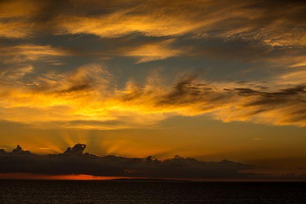 Sonnenuntergang vor Bornholm