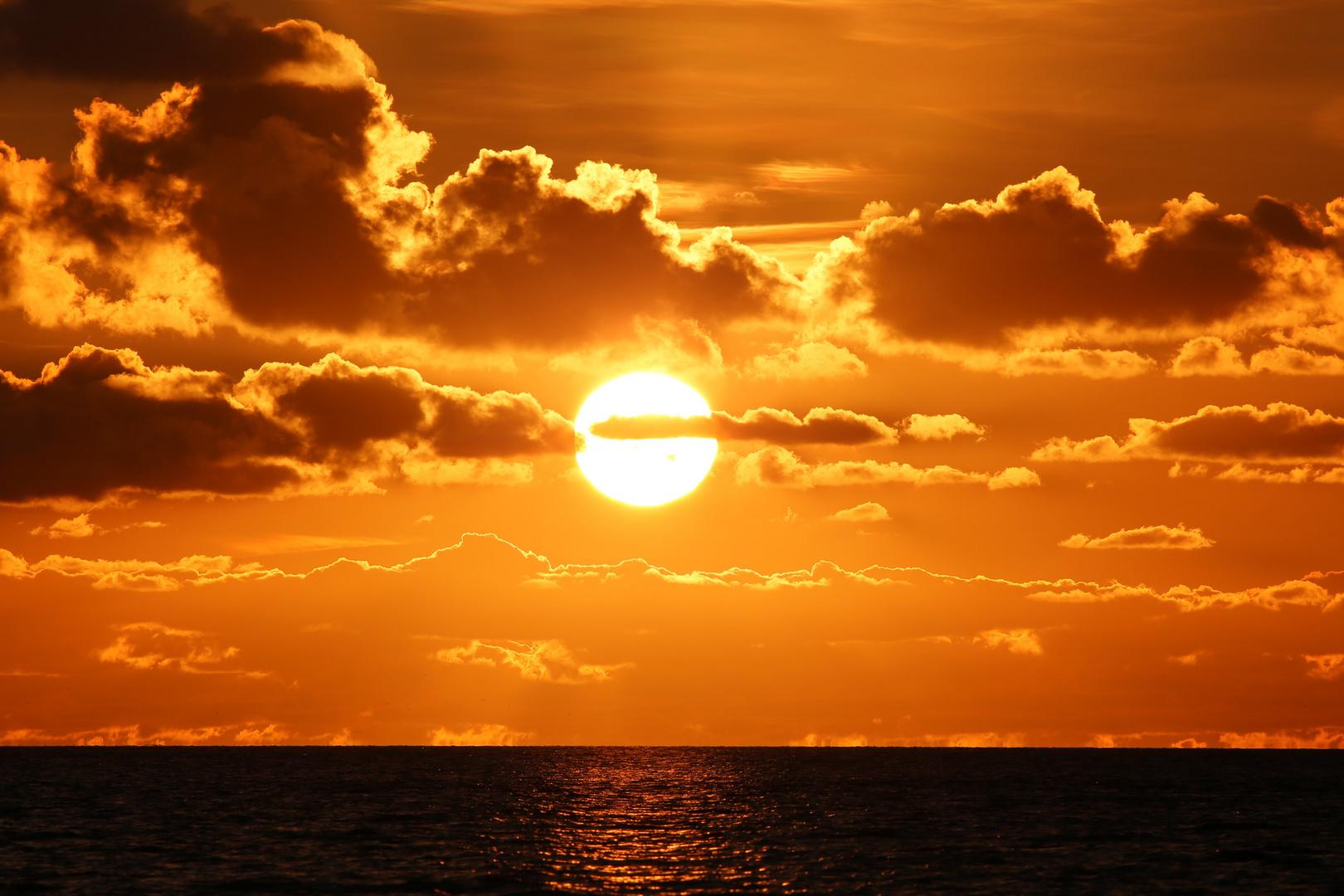 Sonnenuntergang vor Büsum
