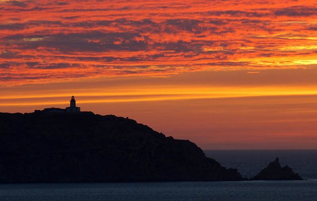 Sonnenuntergang vor Calvi auf Korsika