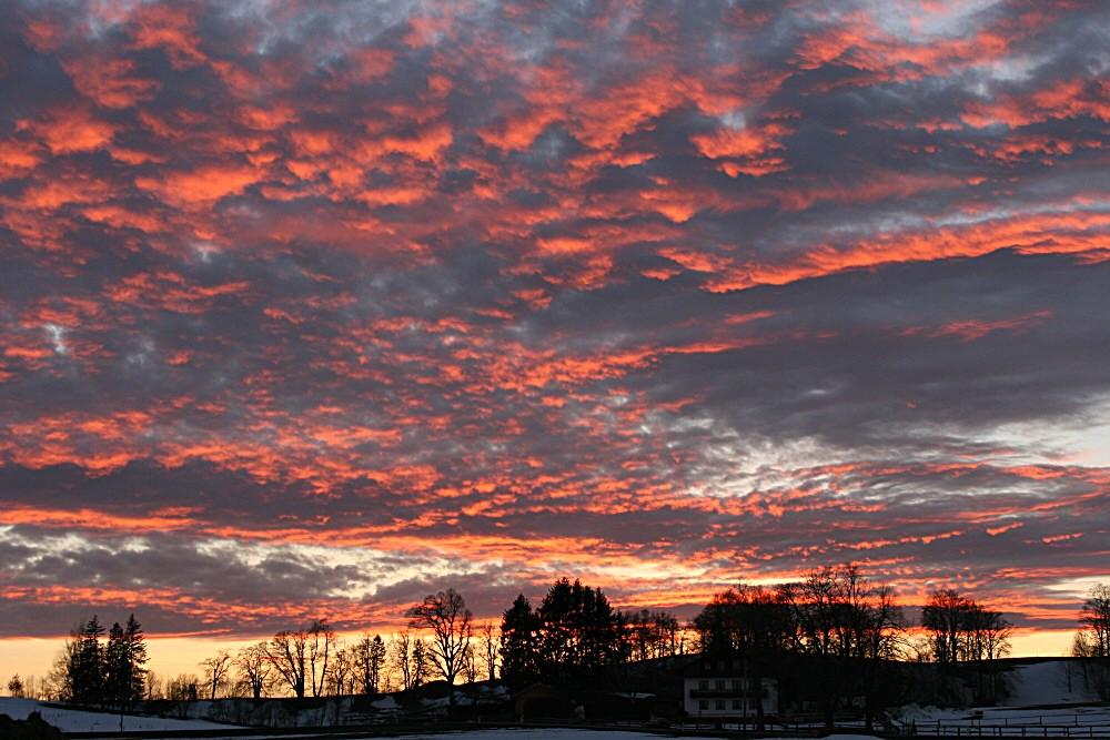 Sonnenuntergang vor der Terasse
