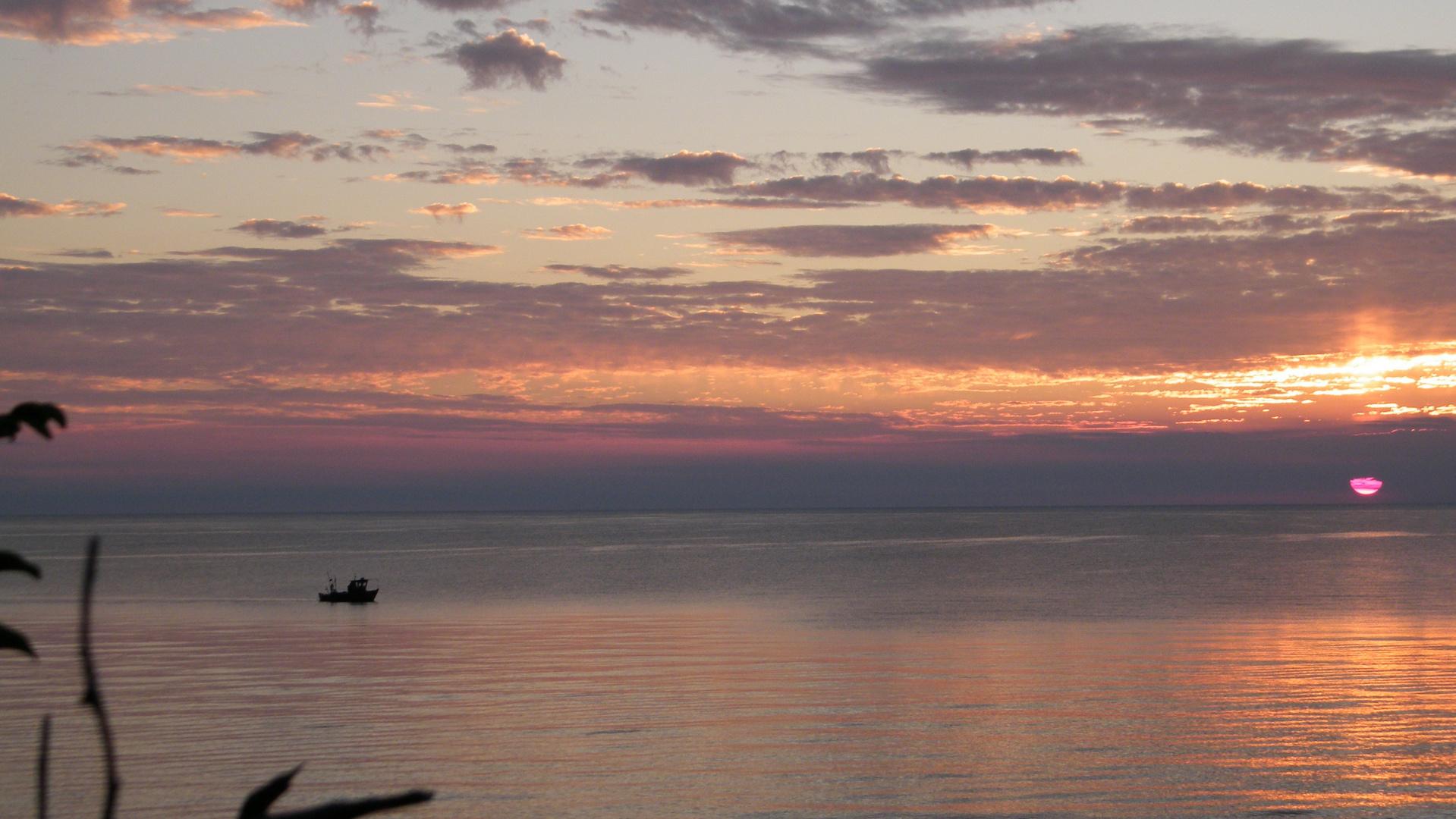 Sonnenuntergang vor Dranske