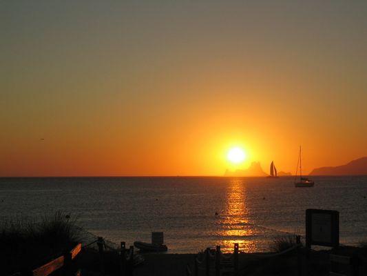 Sonnenuntergang vor Formentera