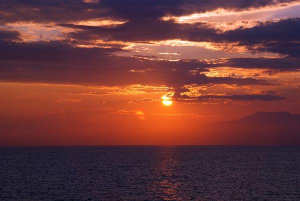 Sonnenuntergang vor Genua