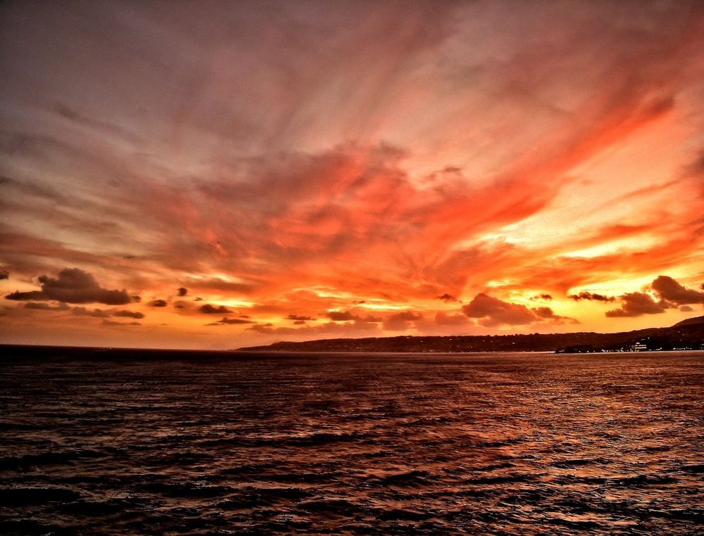 Sonnenuntergang vor Livorno