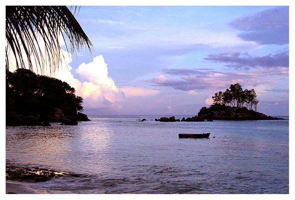 Sonnenuntergang vor Mahé