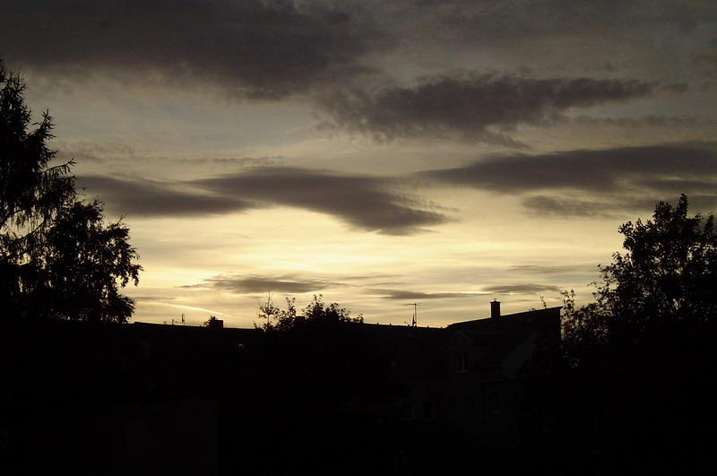 Sonnenuntergang vor meiner Haustür
