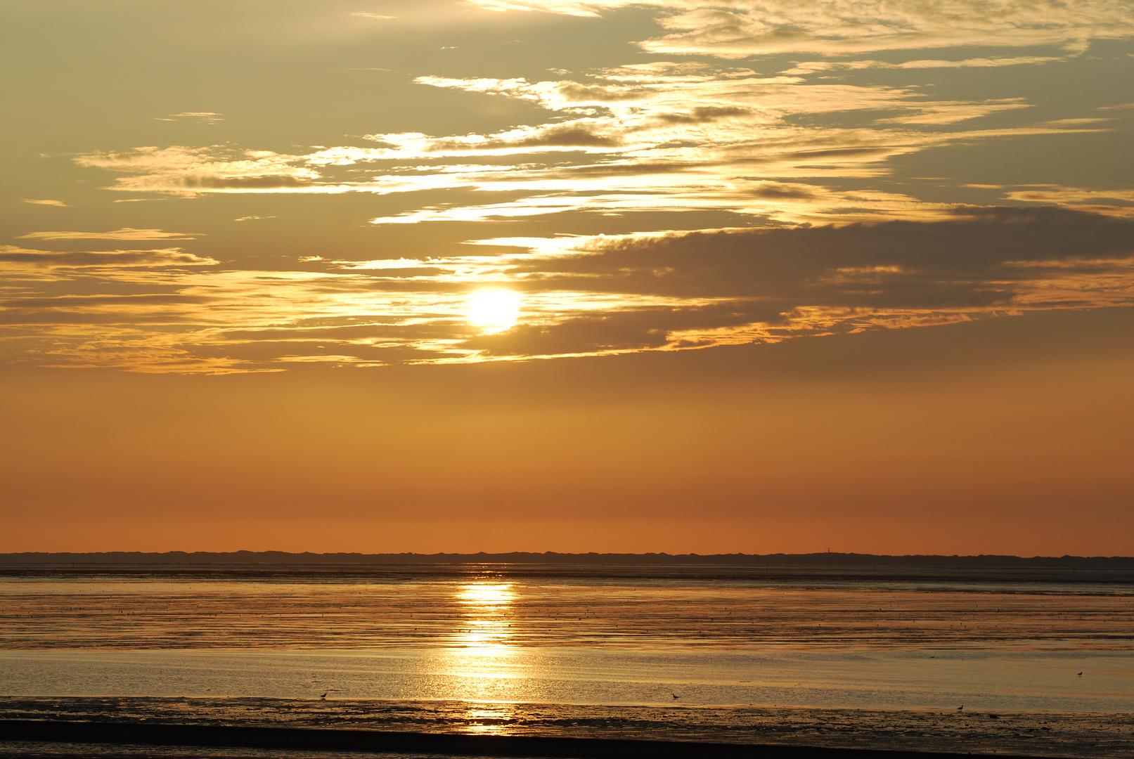 Sonnenuntergang vor Neuharlingersiel