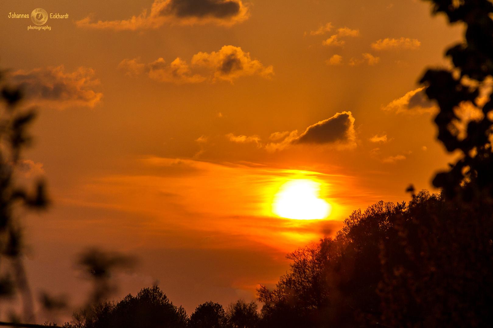 Sonnenuntergang vor Ostern