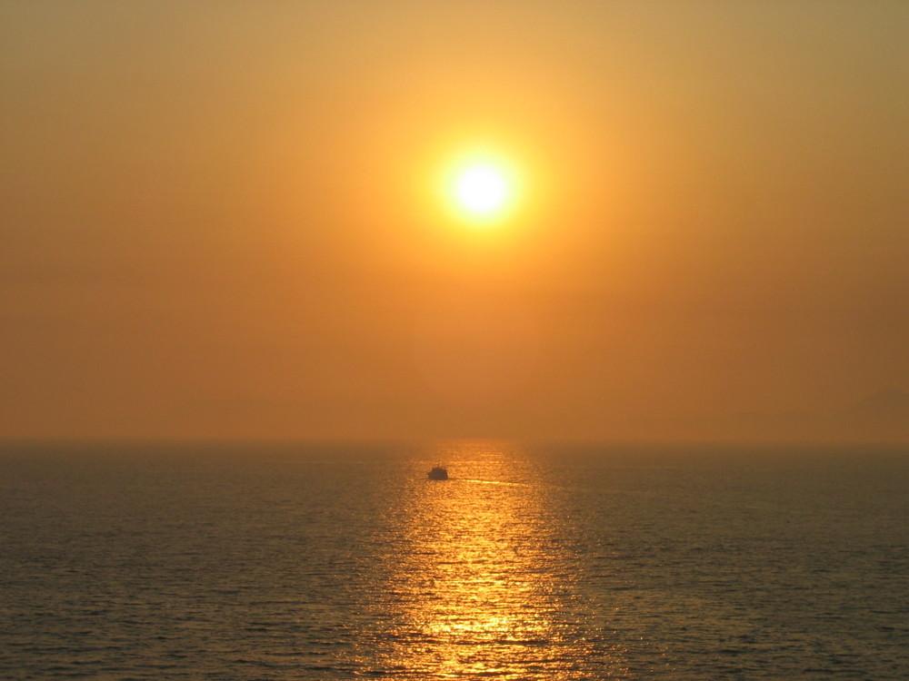 Sonnenuntergang vor Rhodos
