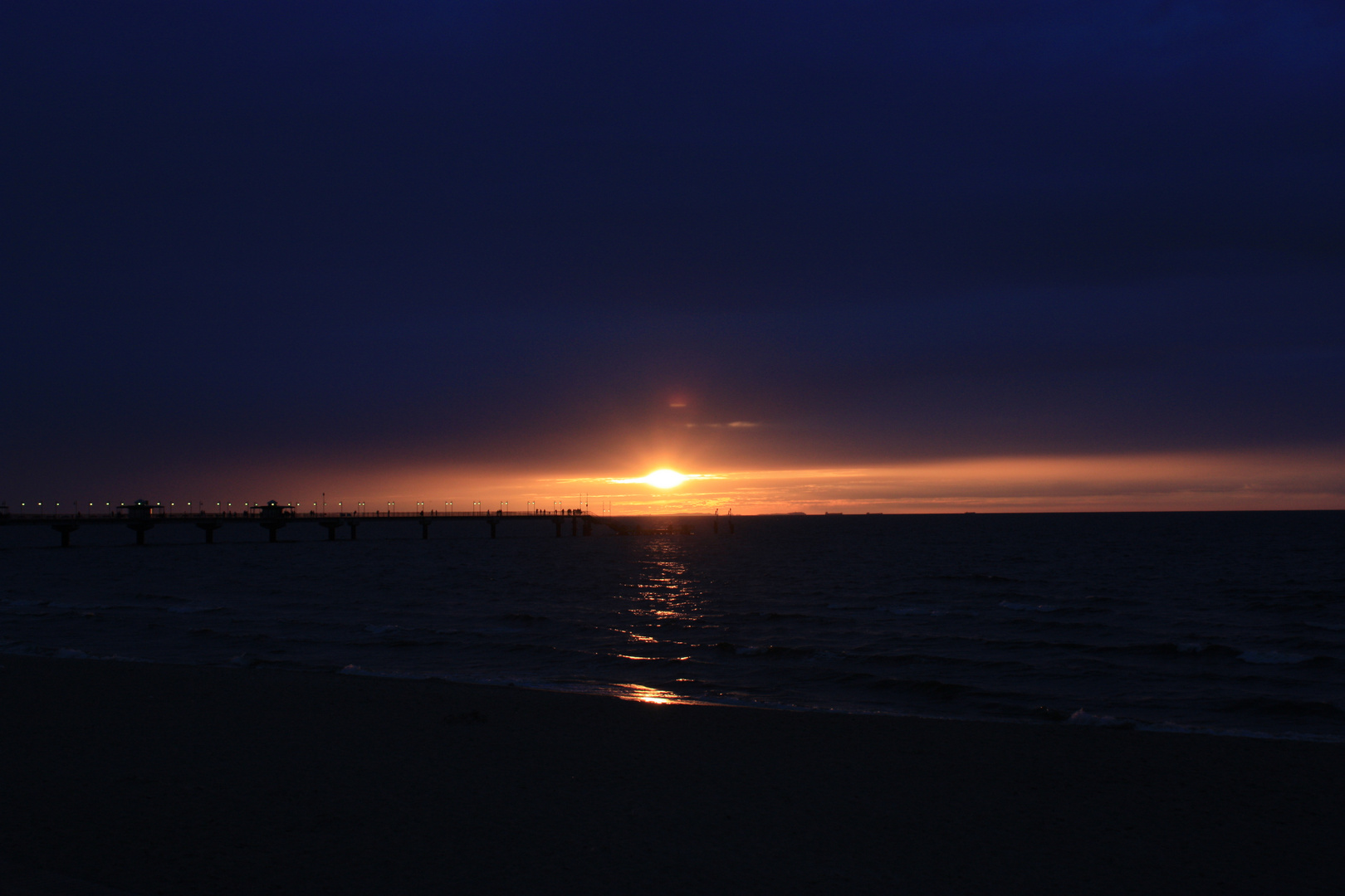 Sonnenuntergang vor Usedom