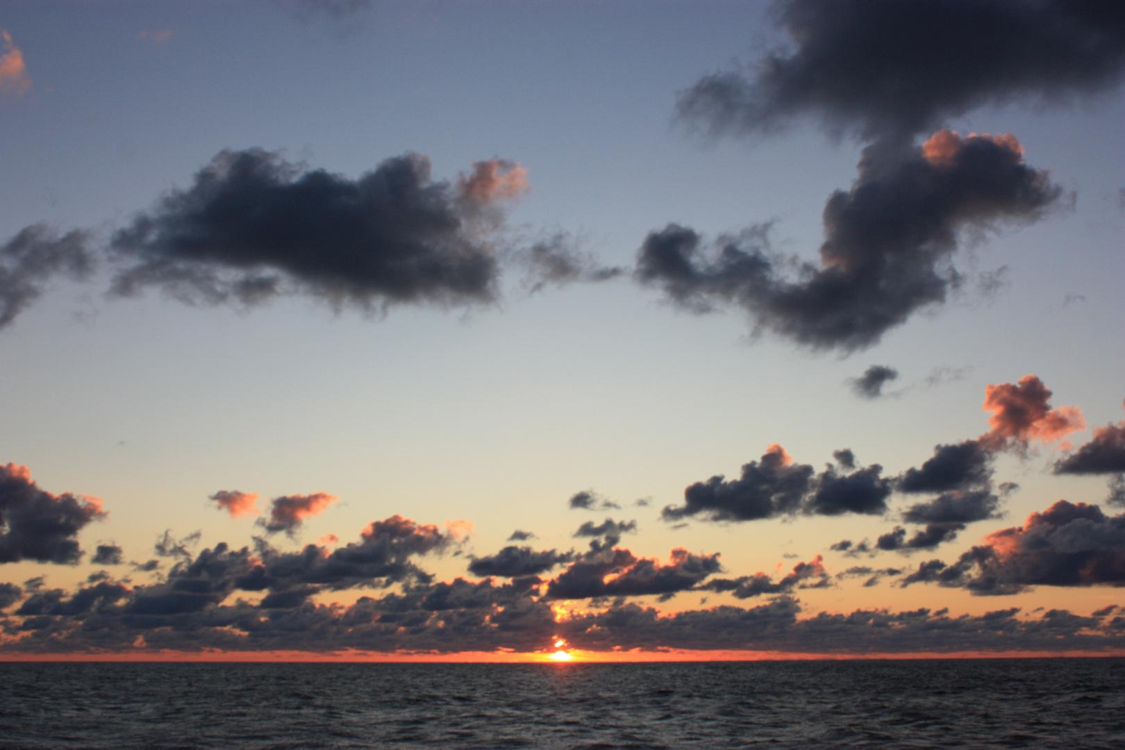 Sonnenuntergang vor Ustka