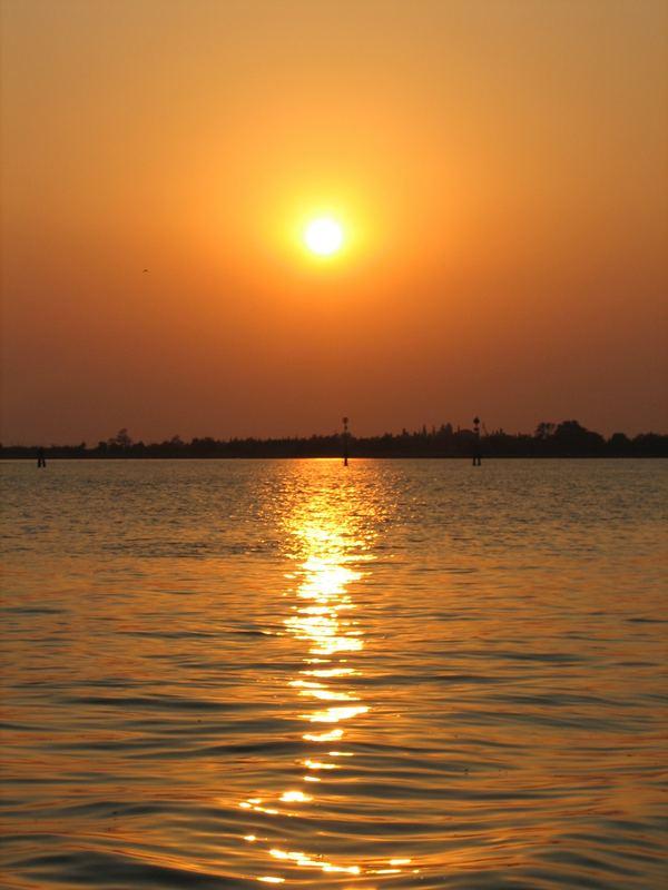 Sonnenuntergang vor Venedig
