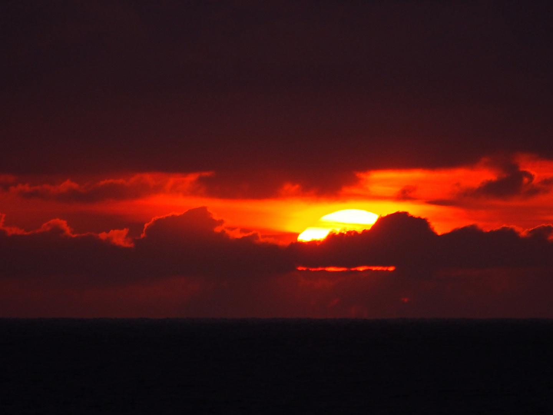 Sonnenuntergang vor Westerland