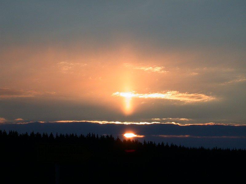 Sonnenuntergang vorgestern bei München