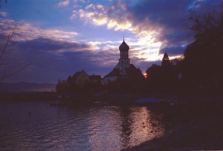 Sonnenuntergang Wasserburg Bodensee