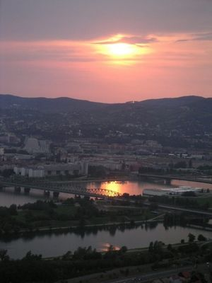 Sonnenuntergang Wien/Donau/Kahlenberg