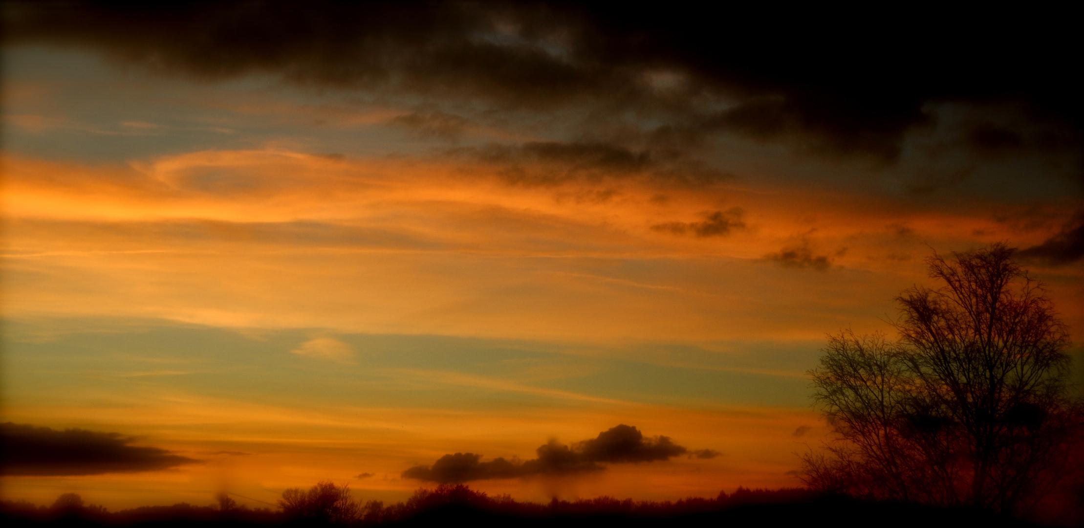 Sonnenuntergang Winter 2012