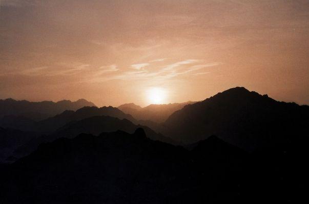 Sonnenuntergang Wüste Sinai