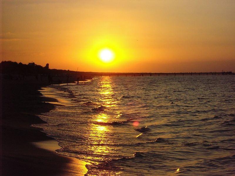 Sonnenuntergang Zinnowitz
