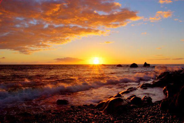 Sonnenuntergang zwischen Puerto Naos und La Bombilla
