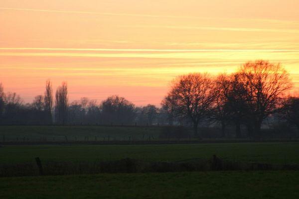 Sonnenuntergang zwischen Wewer und Sande...15.01.05