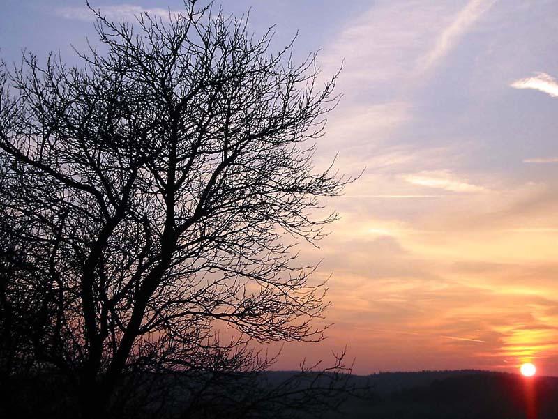 Sonnenuntergang_2 im Westerwald
