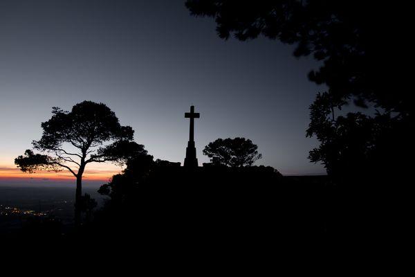Sonnenuntergang_Gipfelkreuz