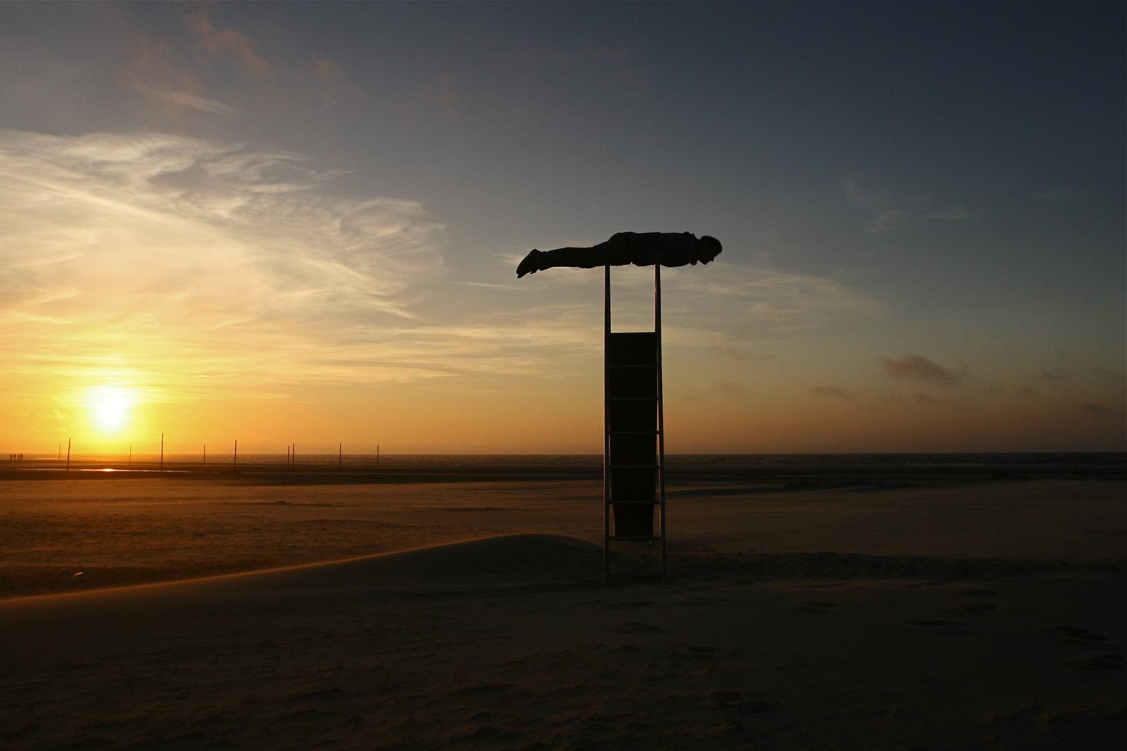 Sonnenuntergangs Planking