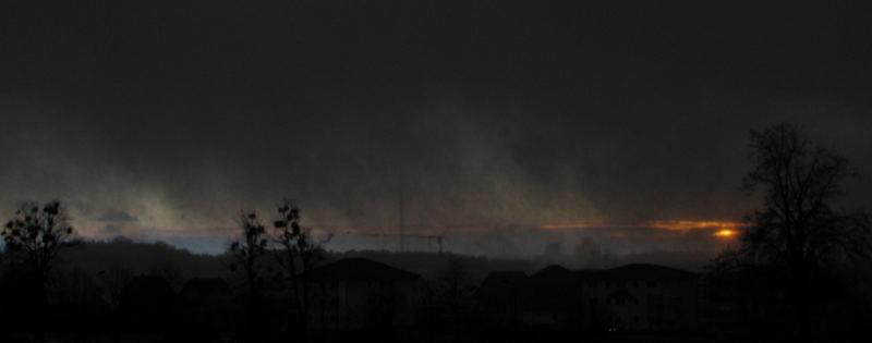 Sonnenuntergangs - Schneeschauer