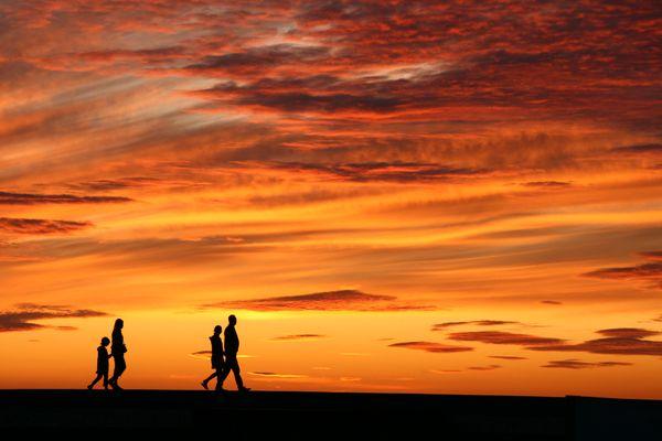 Sonnenuntergangsspaziergang