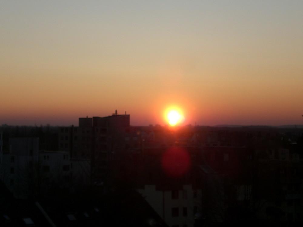 Sonnenuntergangsspiegelung