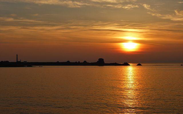 Sonnenuntergangsstimmung am Atlantik