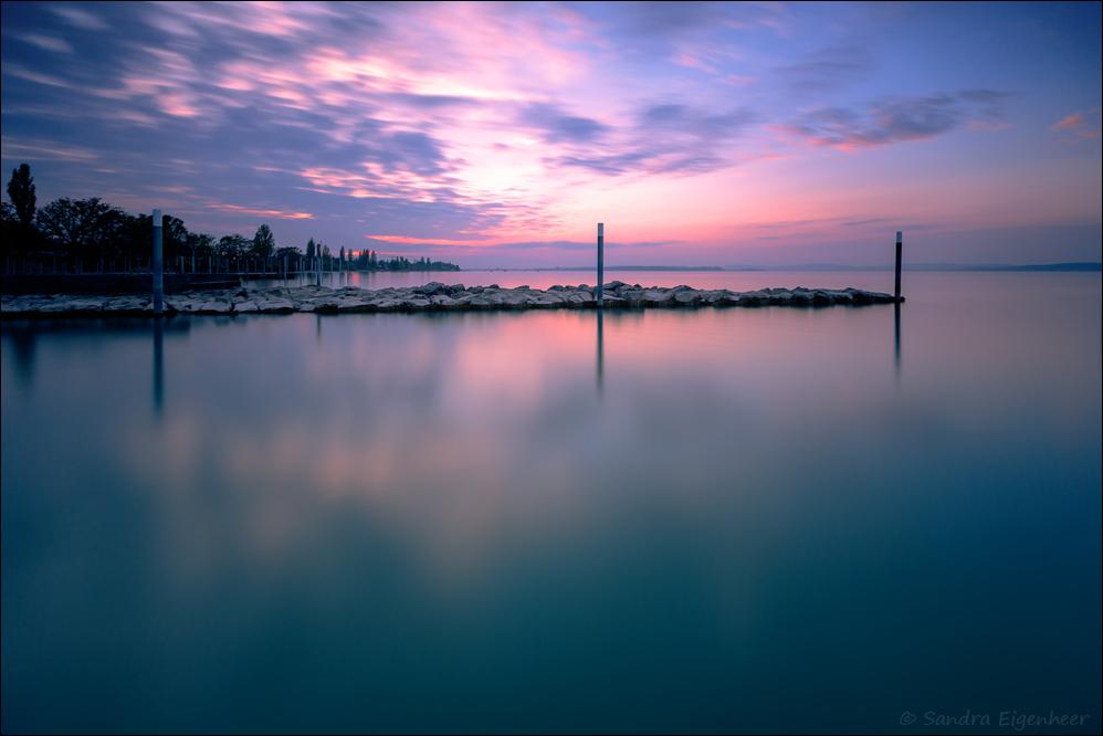 Sonnenuntergangsstimmung am Bodensee